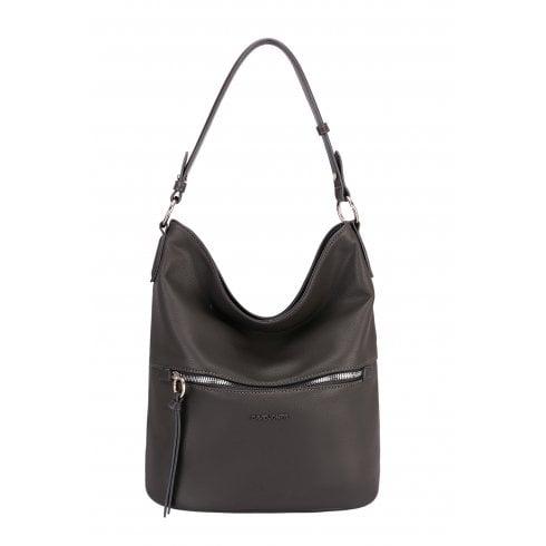 david jones 64221 dark grey leather bucket handbag  sale
