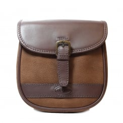 Ballymena Brown Suede/Smooth Leather Saddle Handbag