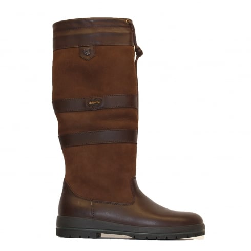 Dubarry Galway Medium Leg Width Walnut Brown Leather Womens Pull On Long Leg Boot