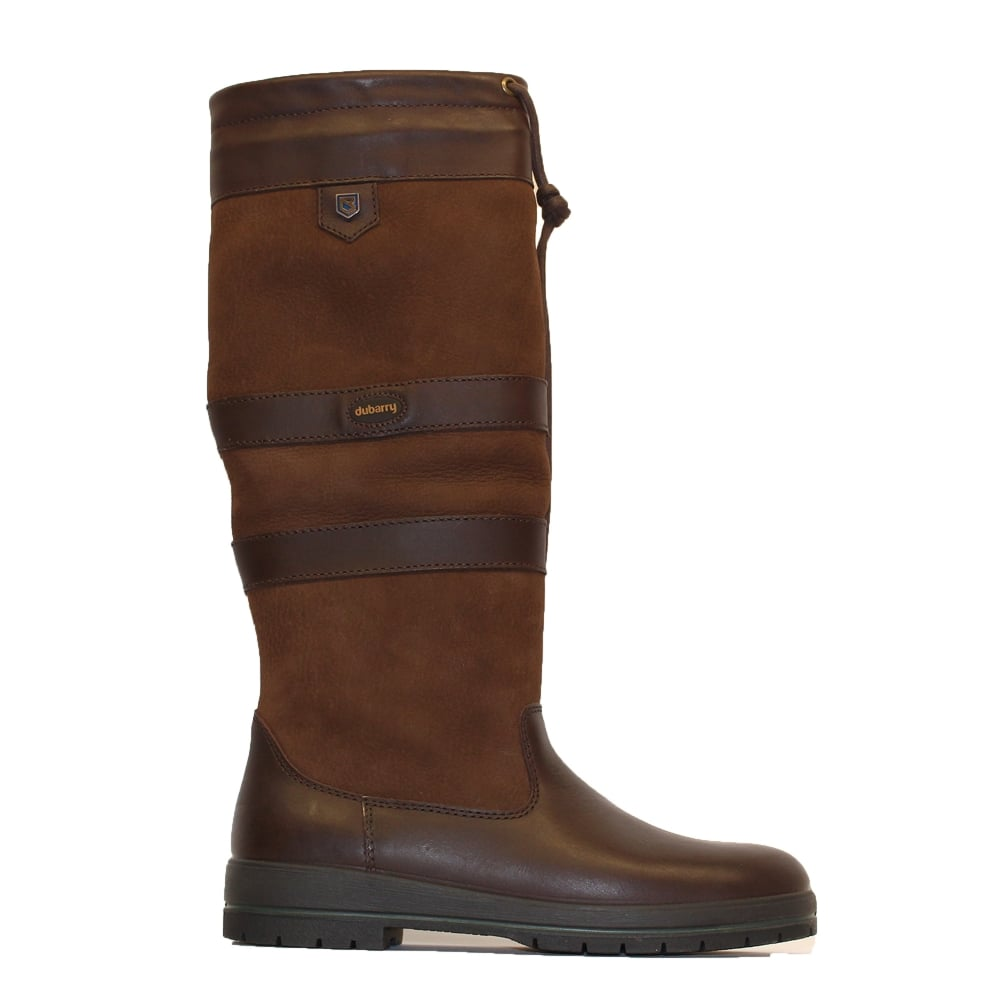 Dubarry Galway Walnut Brown Leather Womens Pull On Long