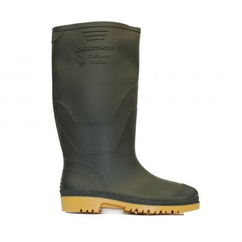 Dunlop Administrator Green Rubber Adults Wellington Boots