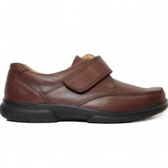Havant 2V Brown Leather Mens Rip Tape Smart Shoe