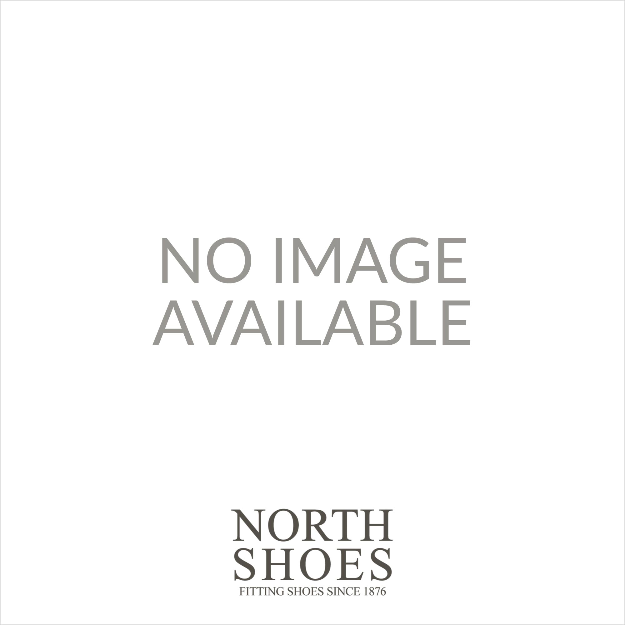 Mya 2V Black Leather Womens Wide Fit Rip Tape Shoes - UK 4