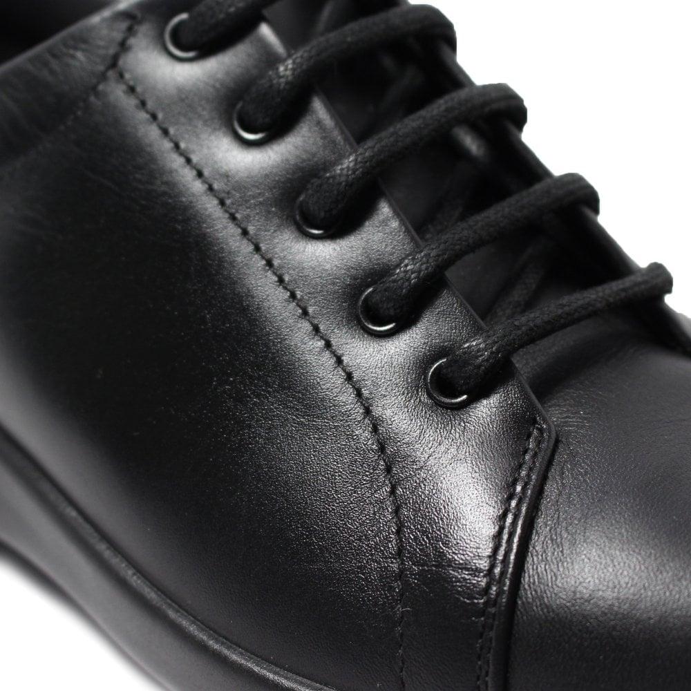 Easy B Phoebe 4E Black Leather Womens