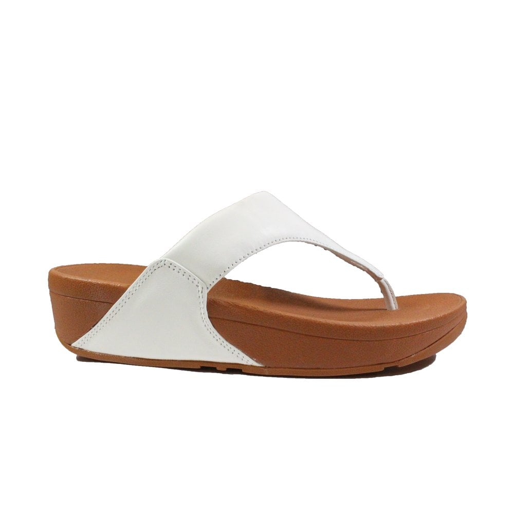 Fitflop Lulu White Leather Womens Slip