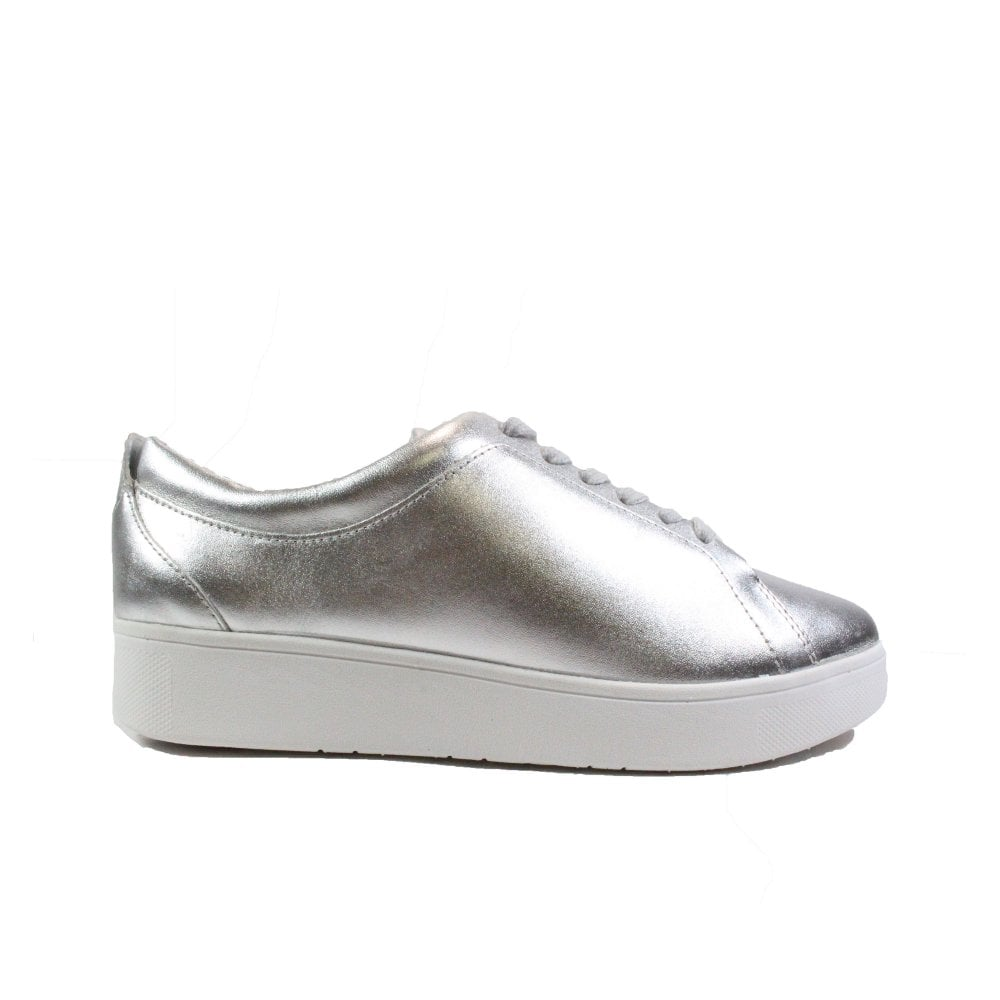 Fitflop Rally Silver Leather Womens