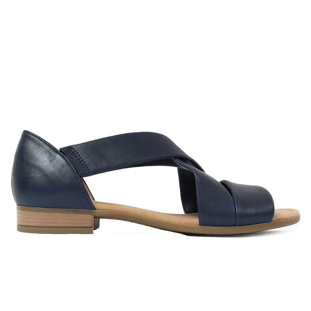 761 56 Leather Smart On Womens Sandals Pull Gabor Navy QoBhrdCtsx