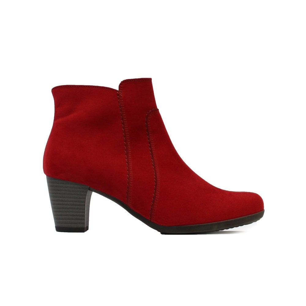 Gabor Amusing 680-45 Red Suede Leather