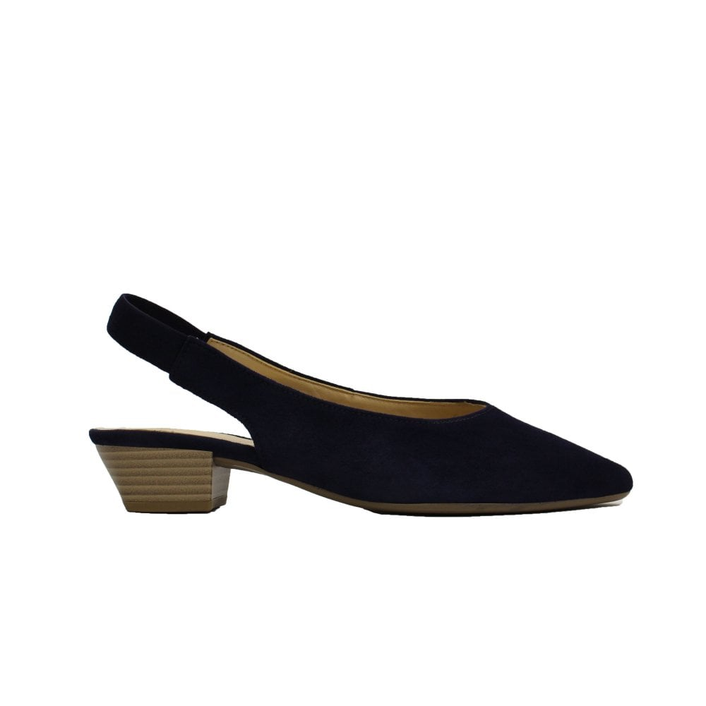 navy suede slingback shoes
