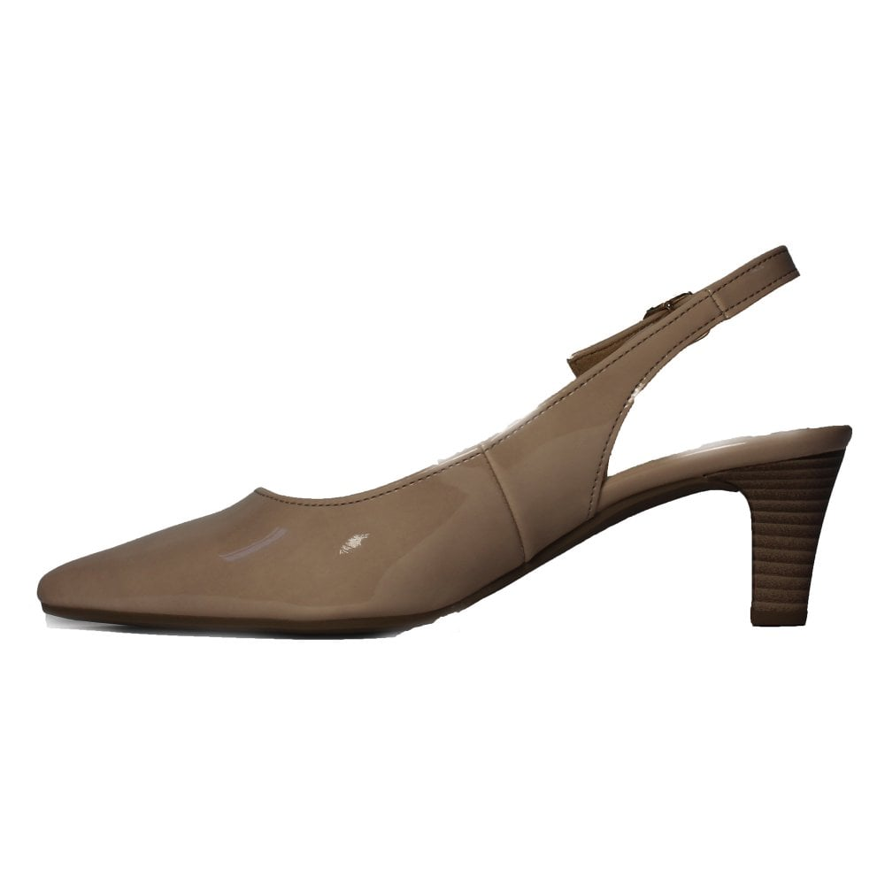 f6611e1ca70 Gabor Hume 2 550-72 Nude Patent Womens Slingback Shoes - Gabor from ...