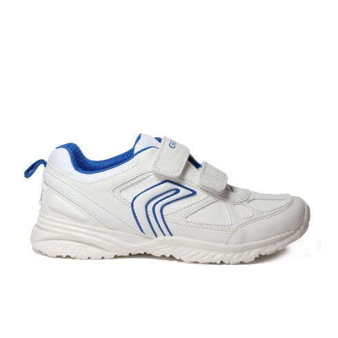 GEOX Bernie J5411G White/Blue Boys Shoe