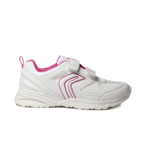 GEOX Bernie J5411H White/Pink Girls Shoe