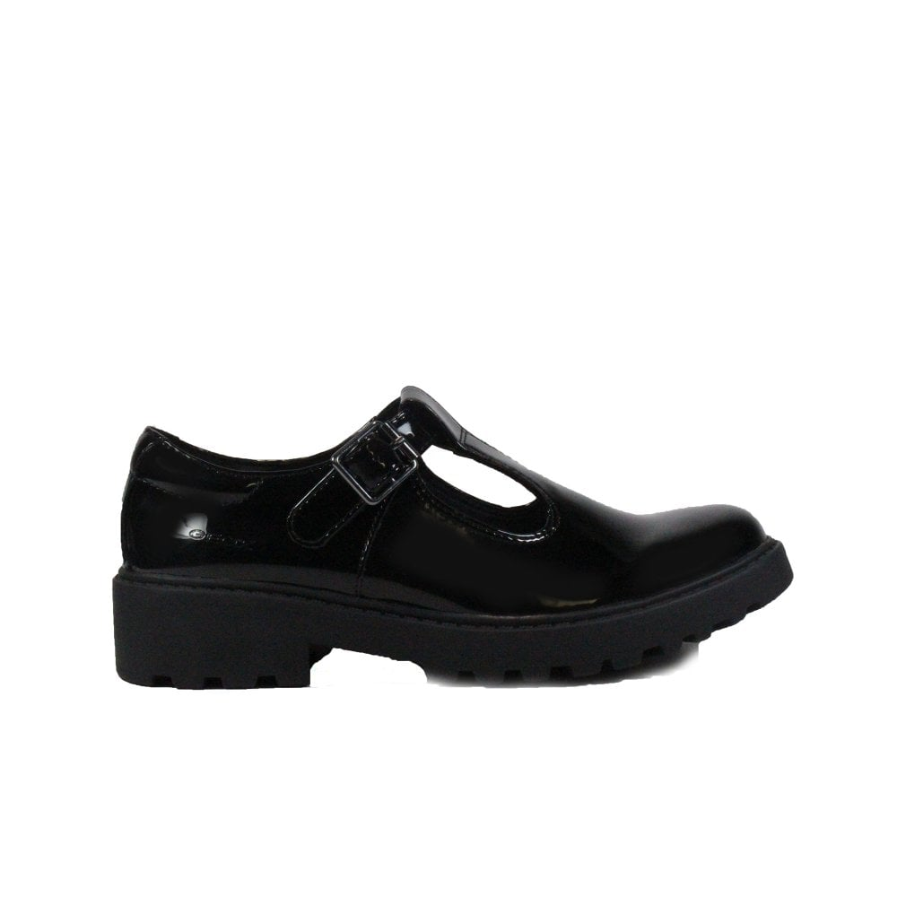 Geox Casey J8420E Black Patent Leather