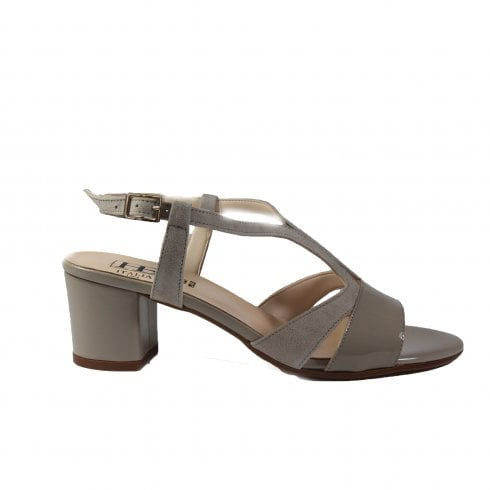 07d7ba8bac0 HB Italia B741 Beige Patent Suede Leather Womens Block Heel Strapy Sandal -  HB Italia from North Shoes UK