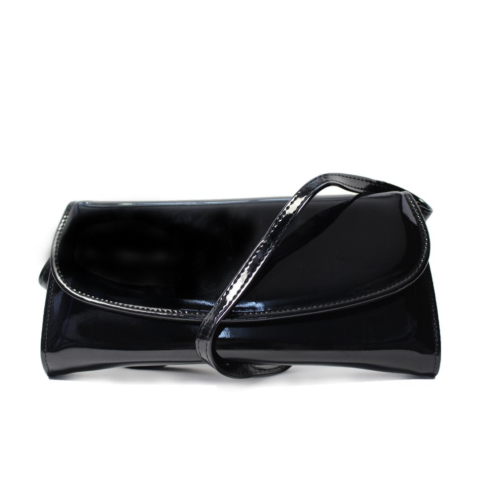 3ef08c96d Clutch Bag Black Patent Leather