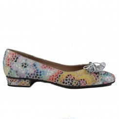 Jest Pebble/Multi Coloured Suede Leather Womens Slip On Shoes