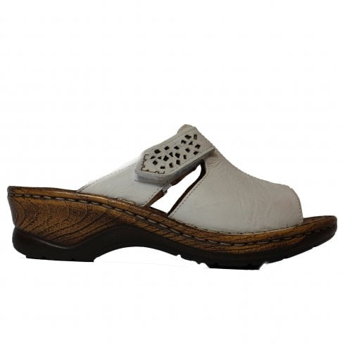 f83883d11c28 Josef Seibel Catalonia 32 White Leather Womens Slip On Mule Wedge Sandals - Josef  Seibel from North Shoes UK