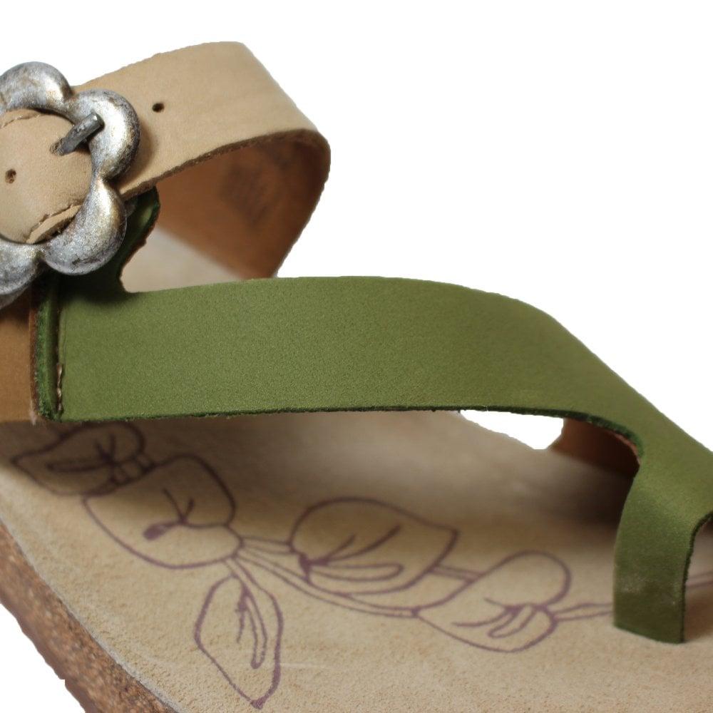 b796e4f2f5c45 ... Josef Seibel Tonga 23 Green Nubuck Leather Womens Slip On Mule Sandals