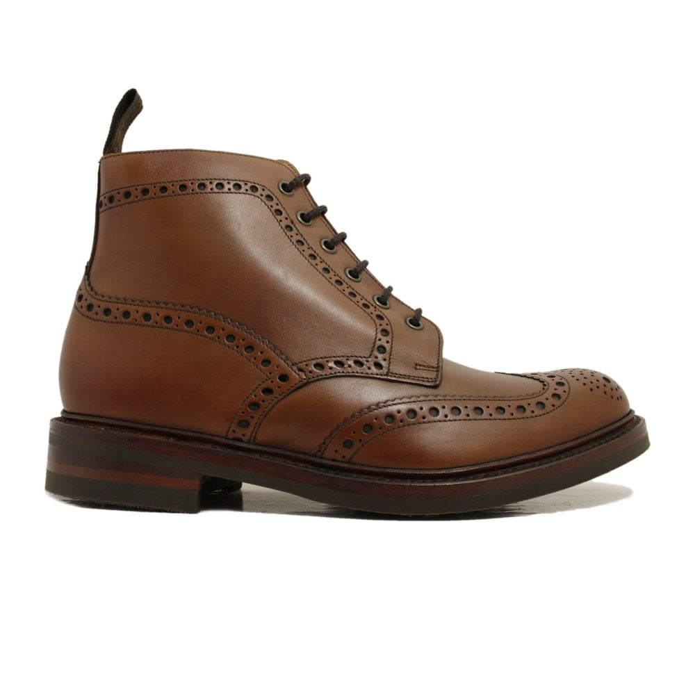 Loake Bedale Brown Burnished Calf Leather Mens Derby Boots   SALE   Buy  Online UK
