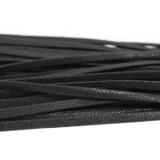 Black Flat Waxed Shoe Lace 80cm
