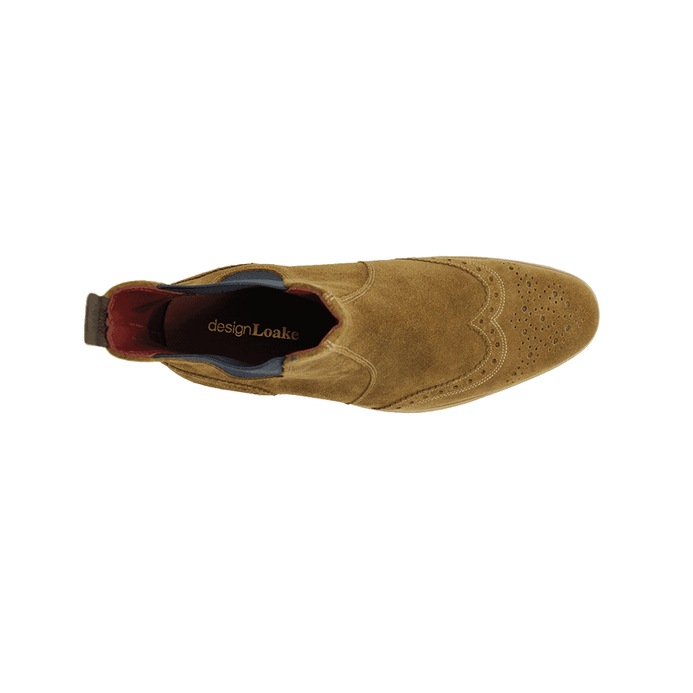 Loake Hoskins Tan Suede Leather Mens
