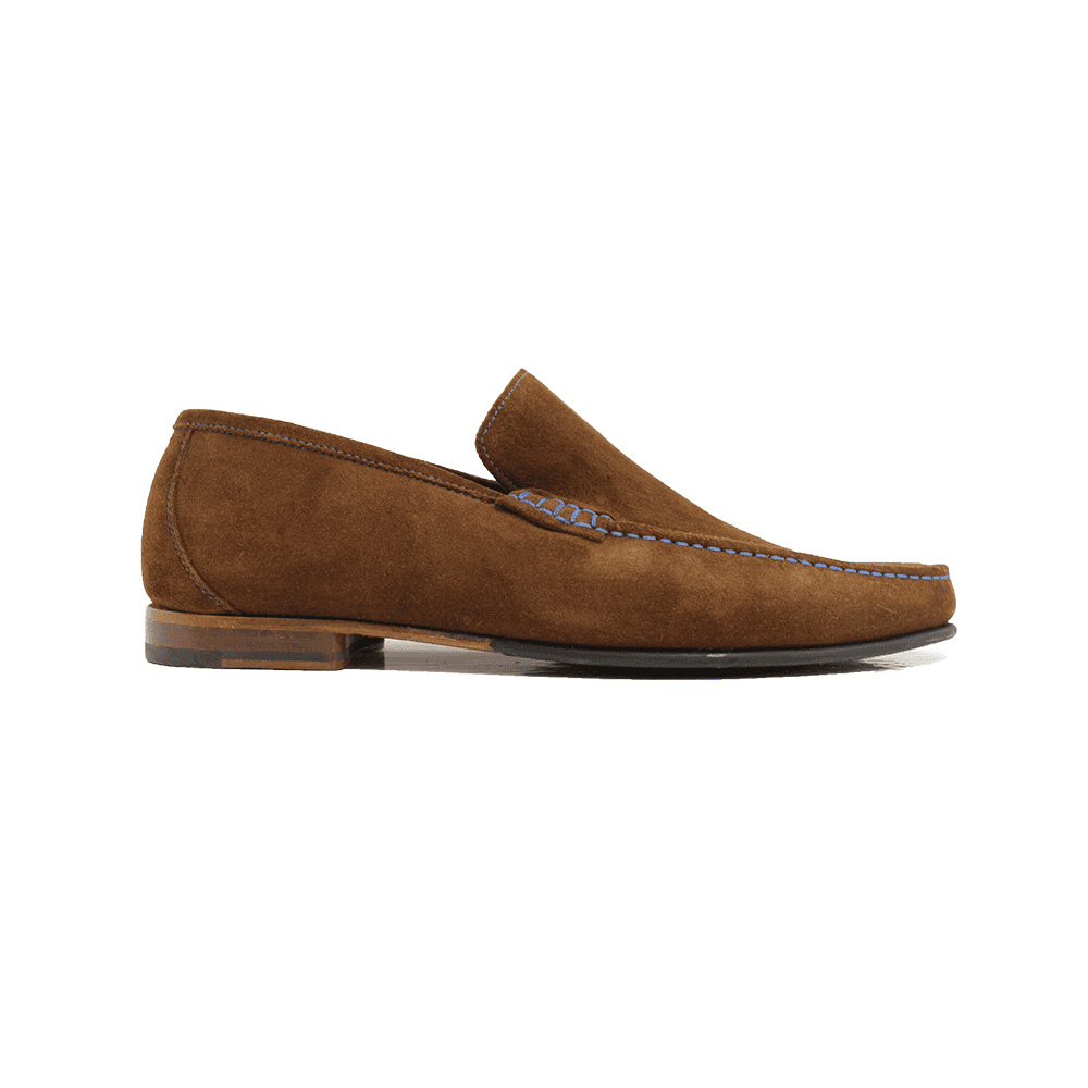 Nicholson Polo Brown Suede Leather Mens Slip On Loafer Shoes