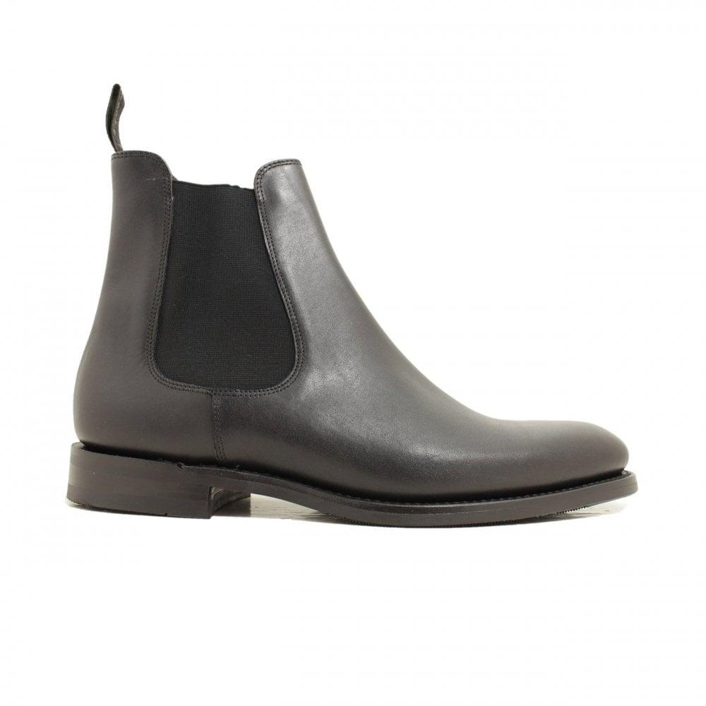 Loake Wickstead Black Calf Leather Mens
