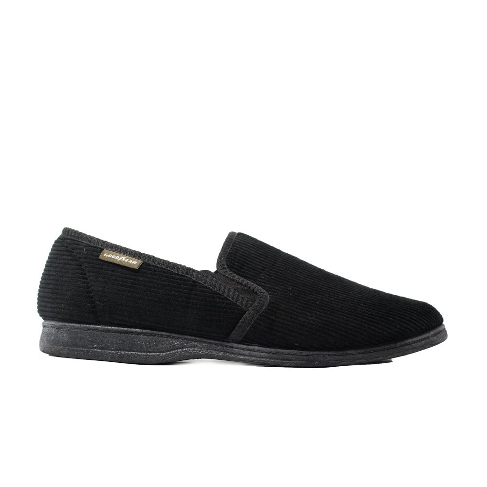 c8c532d916752 Mens Lunar Humber Black Mens Full Shoe Slip On Slippers - UK 11 ...