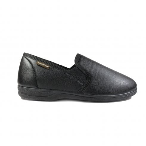 57dfe8be7a4df Lunar Trent Black Mens Slip On Full Shoe Slippers - UK 11 - Lunar ...