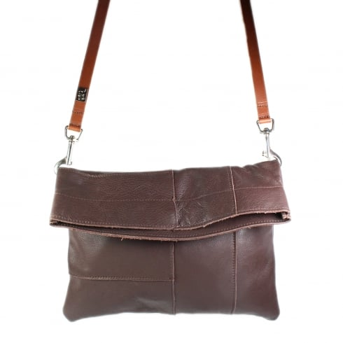 OWEN BARRY Hybrid Brown Leather Handbag