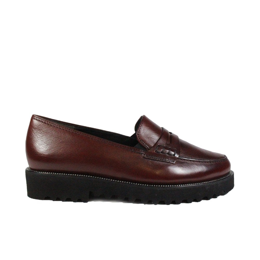 83afb000 1011-11 Burgundy Leather Womens Slip On Loafer Shoes