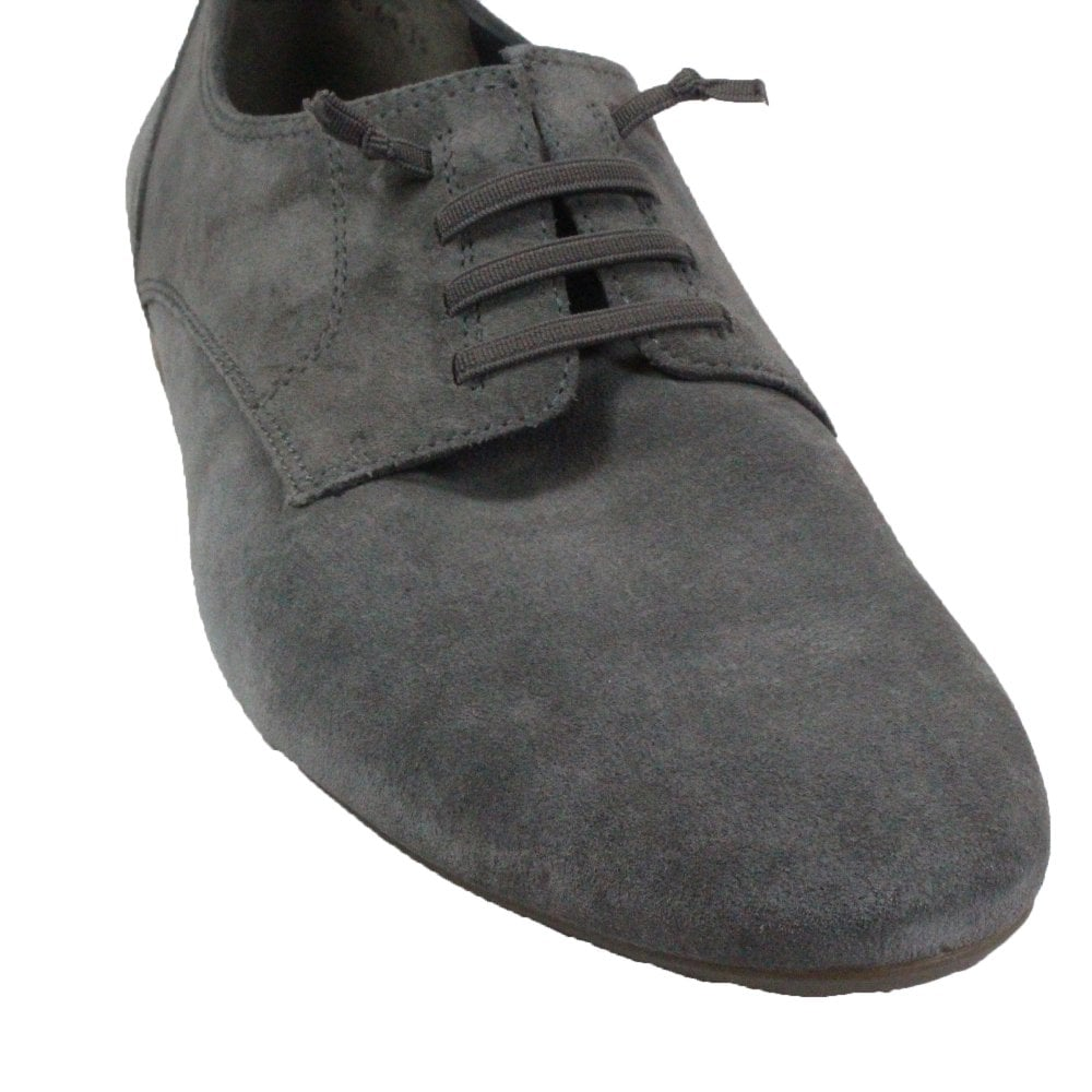 Grey Suede Leather Womens Slip