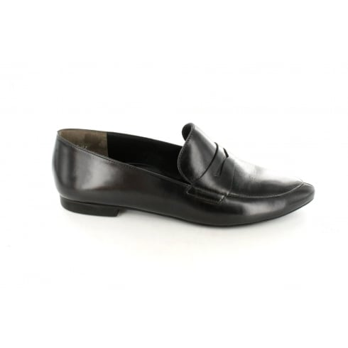 Paul Green 1814-00 Black Leather Womens Slip On Loafer Shoe
