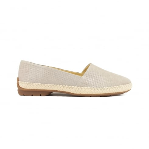 Paul Green 1962-35 Taupe Textured Leather Womens Slip On Casual Shoe