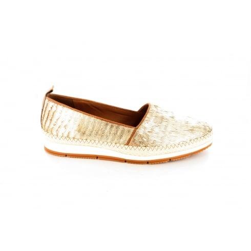 PAUL GREEN 1980-01 Gold Womens Shoe