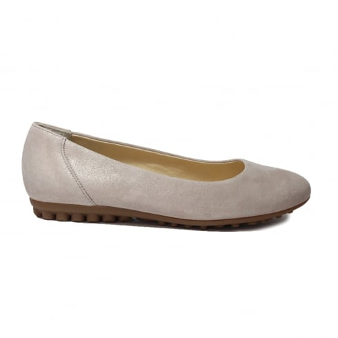 Paul Green 2239-14 Beige Leather Womens Slip On Shoe