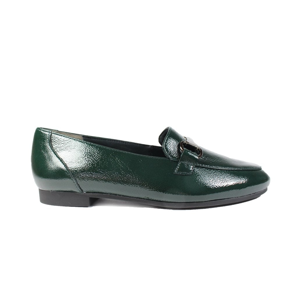 great quality how to buy factory authentic 2279-10 Bottle Green Patent Leather Womens Slip On Loafer Shoes
