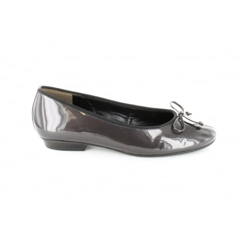 Paul Green 3103-08 Grey Patent Leather Womens Slip On Shoe