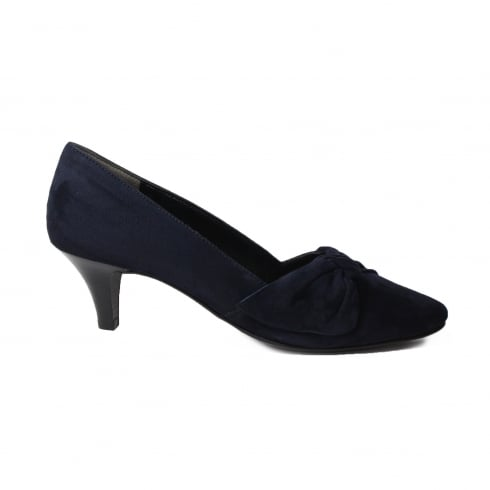 87d726c6ec4 Paul Green 3627-00 Navy Suede Leather Womens Slip On Kitten Heel Court Shoe  - Paul Green from North Shoes UK
