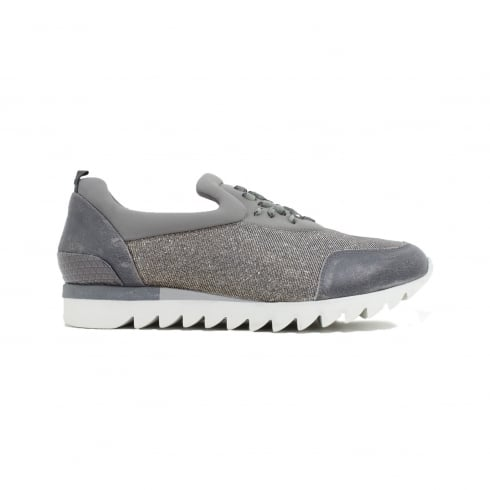 Paul Green 4420-01 Silver Grey Womens Slip On Casual Shoe