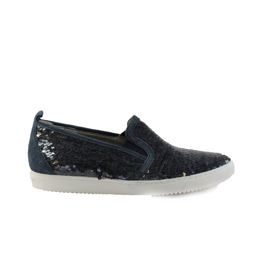 Paul Green 4473-02 Navy Sequined Womens