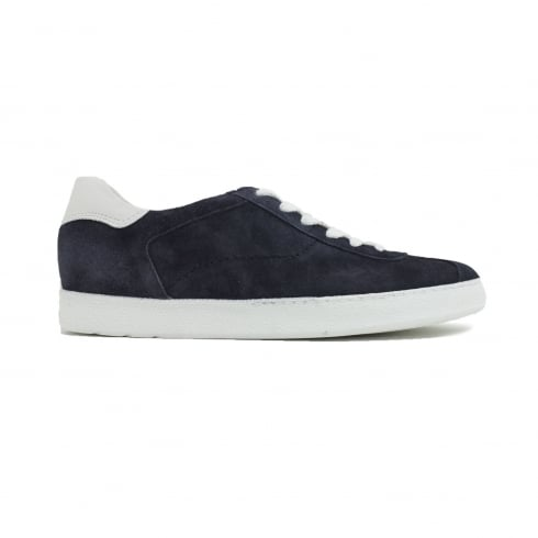 Paul Green 4478-05 Blue Suede Leather Womens Lace Up Casual Trainer