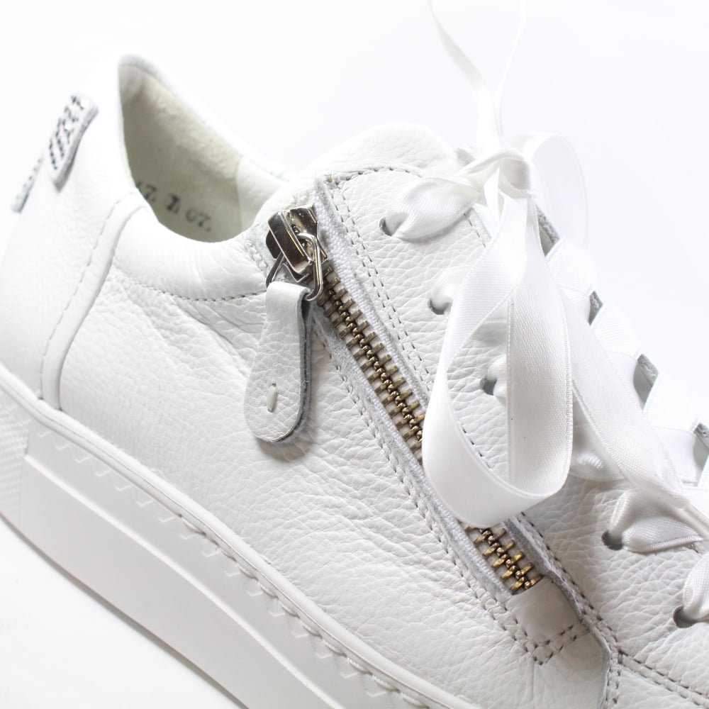 Paul Green 4594-03 White Leather Womens