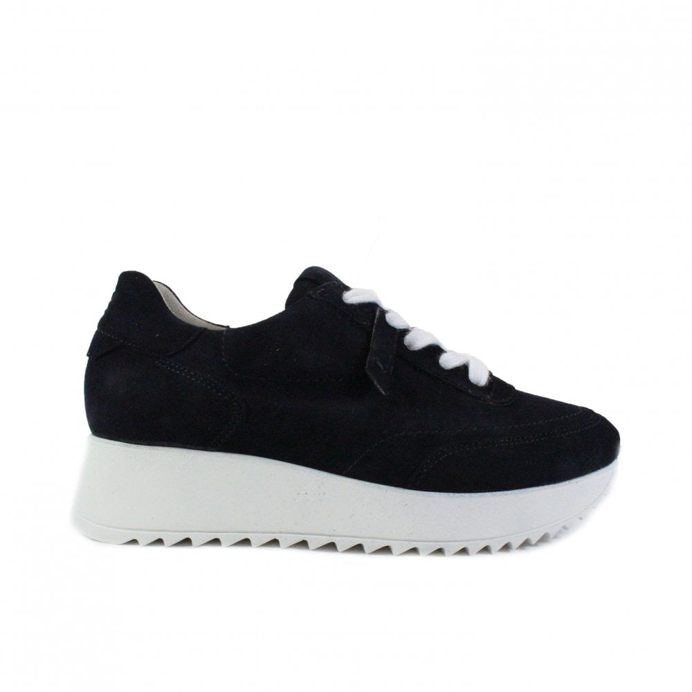 Paul Green 4946-07 Navy Suede Leather