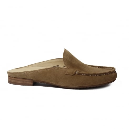 Paul Green 6044-04 Brown Suede Leather Womens Slip On Mule Shoe