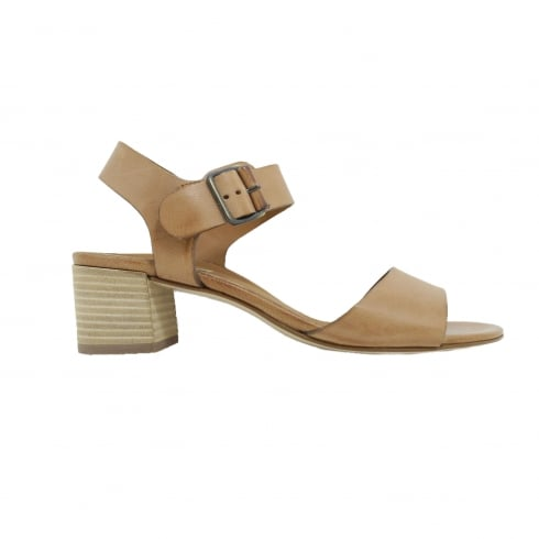 Paul Green 6085-00 Tan Leather Womens Ankle Strap Sandal