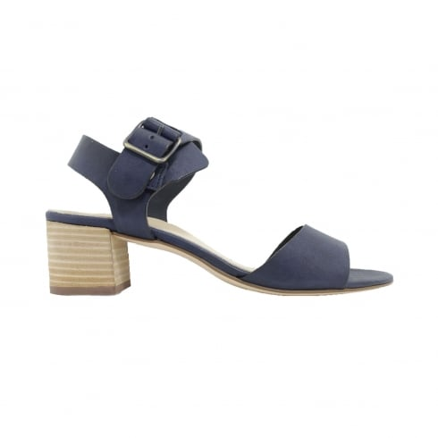 Paul Green 6085-02 Navy Leather Womens Ankle Strap Sandal