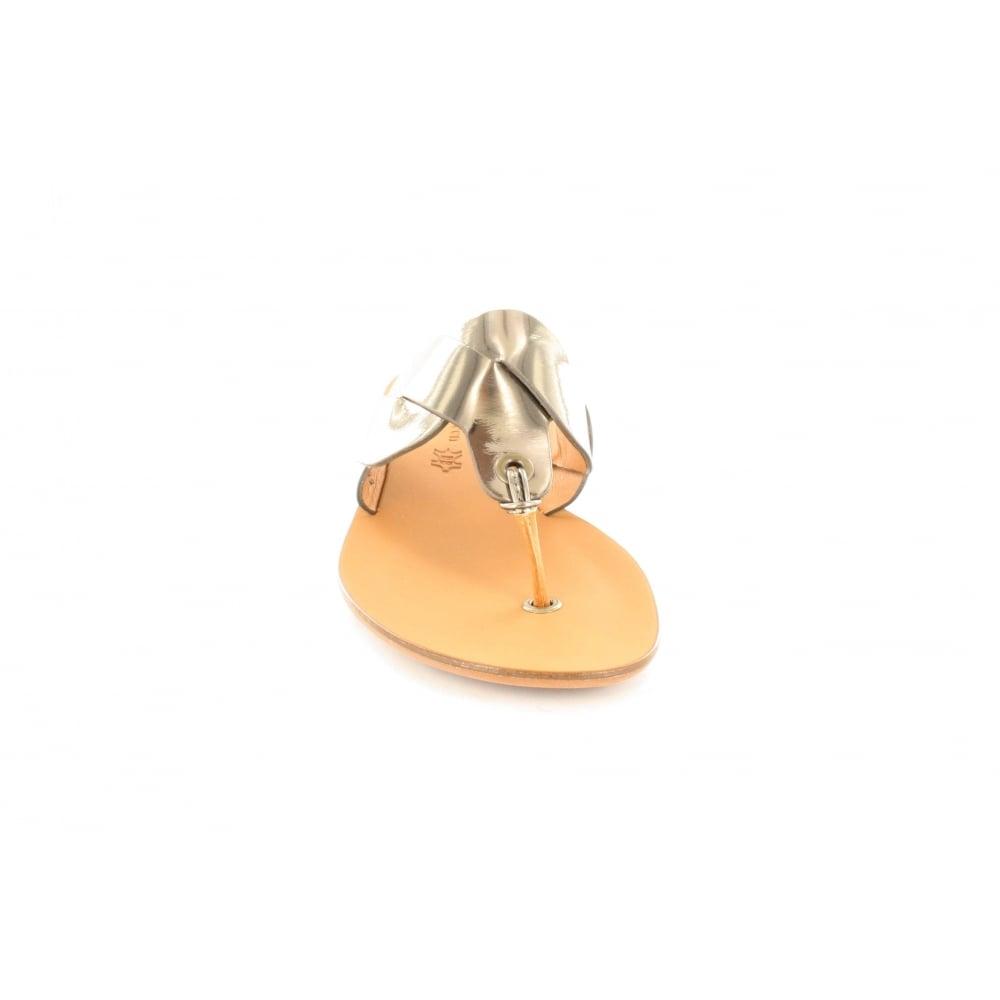 75b9d834485 ... Paul Green 6251-03 Metallic Bronze Leather Womens Toe Post Sandal ...