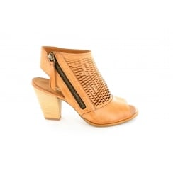 6568-05 Tan Leather Womens Ankle Strap Sandal