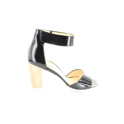 PAUL GREEN 6609-01 Navy Patent Leather Womens Ankle Strap Sandal